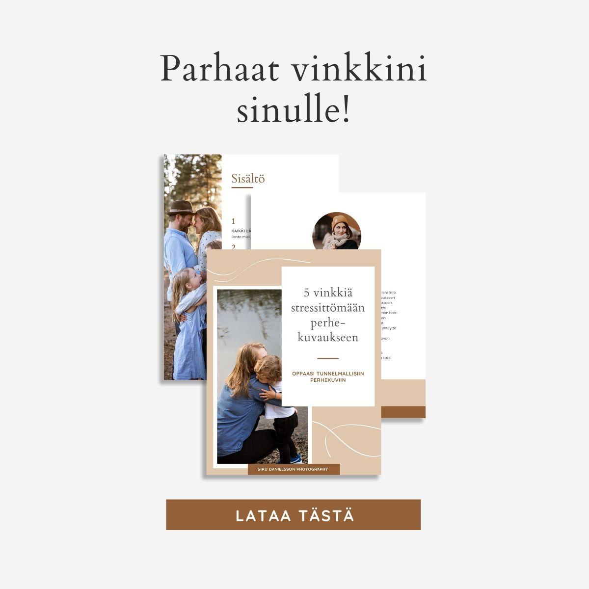 Opas onnistuneisiin perhekuviin - Siru Danielsson Photography