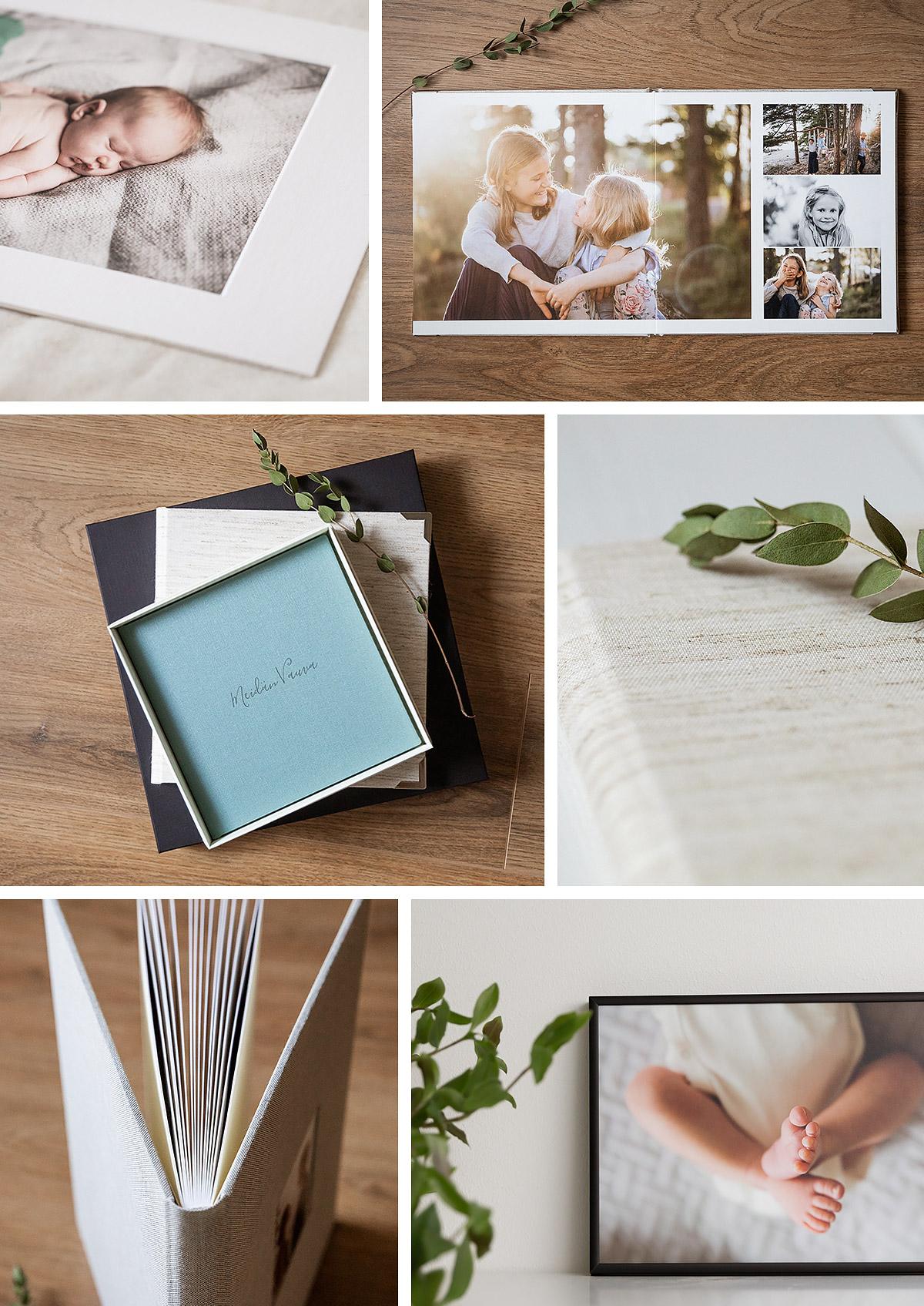 Valokuva-albumit ja taulut perhekuvista, Siru Danielsson Photography